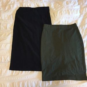 2 Forever 21 Stretchy Pencil Skirts